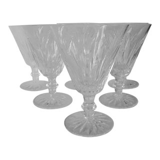 1980s Waterford Crystal Short Stem Goblets - Set of 6 For Sale