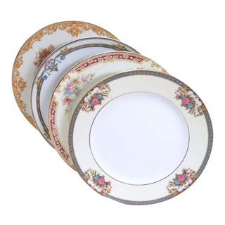 Vintage Mismatched Fine China Salad Plates - Set of 4 For Sale