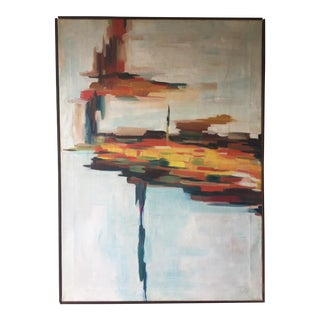 Original Signed Abstract Painting on Canvas