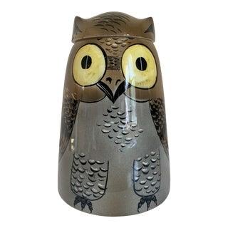 Vintage Italian Ceramic Owl Cookie Jar For Sale