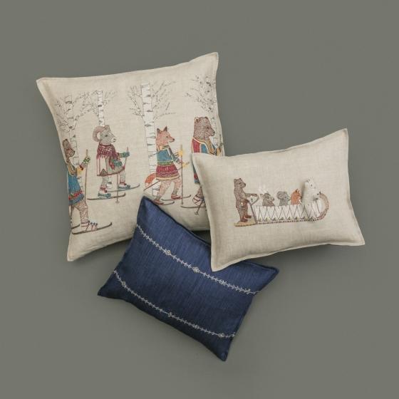 Boho Chic Stitch Stripe Indigo Pillow For Sale - Image 3 of 4