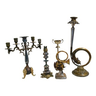 Mixed Metal Candle Holder Collection by Lorie Price Bischoff For Sale