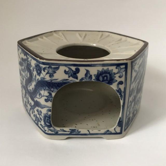 Asian Blue & White Porcelain Vessel For Sale - Image 3 of 11