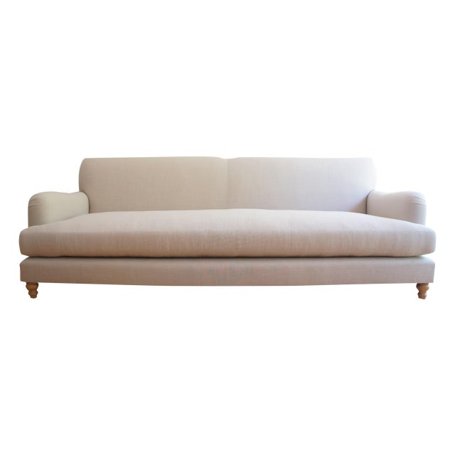 Custom Roll Arm Sofa With Modern Lines - Image 1 of 11