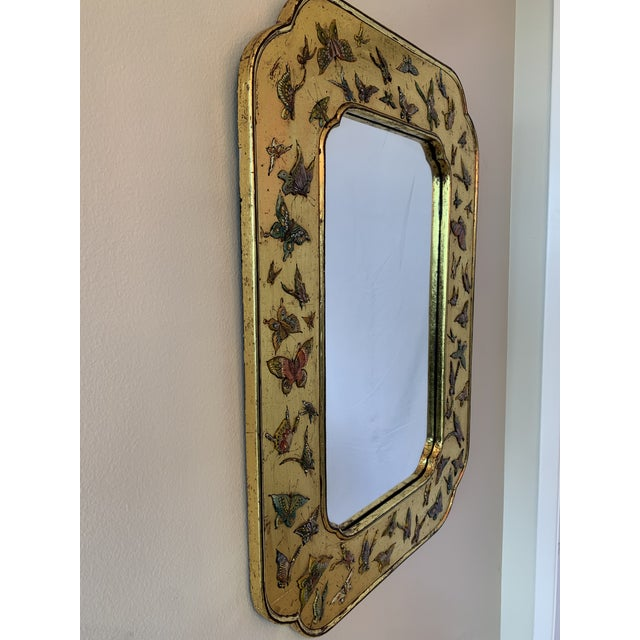 Asian Bohemian Butterfly Wall Mirror For Sale - Image 3 of 13