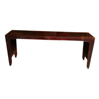 Elmwood Shandong Long Console Table with 19th Century Original Finish For Sale