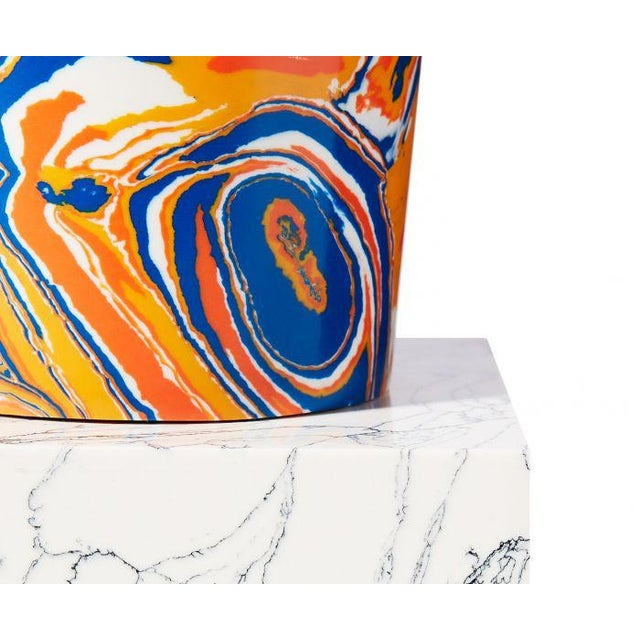 2020s Swirl Stem Primary Colors Vase For Sale - Image 5 of 7