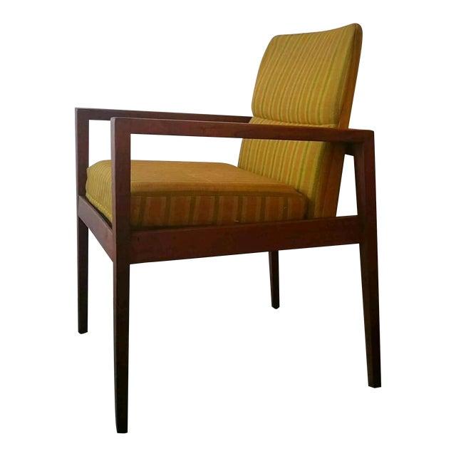 Jens Risom Walnut Cube Desk Chair - Image 1 of 7