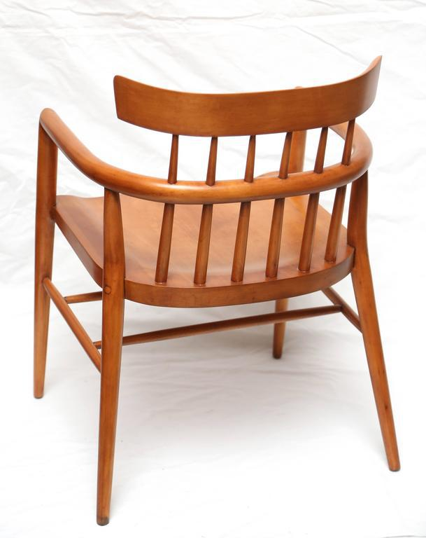 Pair Of Paul McCobb Armed Wood Dining Chairs, 1960s   Image 5 Of 7