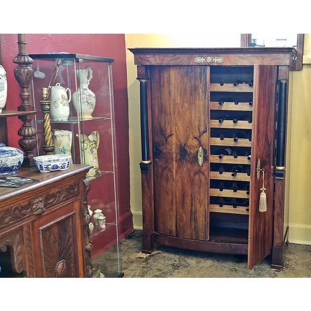 Early 19th Century Early 19th Century French Empire Armoire Wine Cabinet For Sale - Image 5 of 8