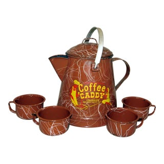 1940's Coffee Caddy - Set of 5 For Sale