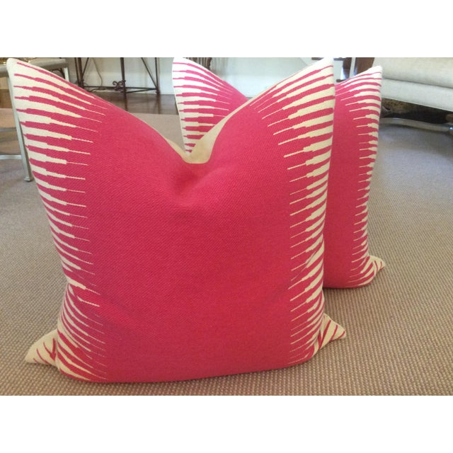 Manuel Canovas Kazan in Rose Indien Down Filled Pillows - A Pair - Image 5 of 5