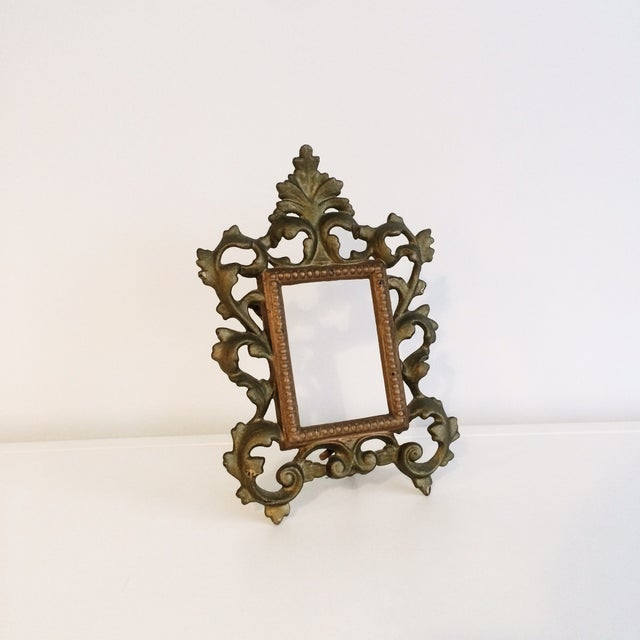 Cast Iron Gold Easel Frame - Image 2 of 3