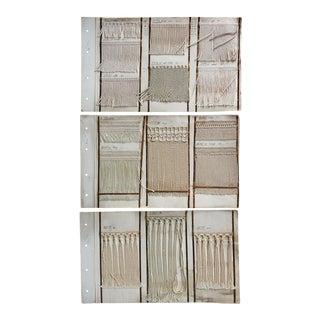 Antique Sample Pages Fringe Trim Passimenterie - Set of 3 For Sale