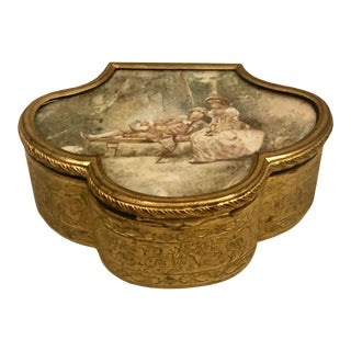 Late 19th Century French Neoclassical Bronze Ormolu Box For Sale