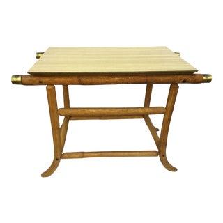 20th Century Boho Chic j.b. Van Sciver Rattan End Table For Sale