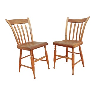 1850s Primitive American Chairs - Country Farmhouse For Sale