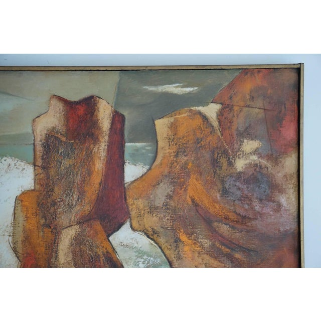 Mid-Century Modern 1960s Oil Painting by Darwin Musselman For Sale - Image 3 of 6