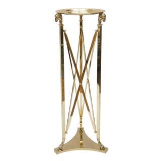 Italian Brass Ram's Head Pedestal Table