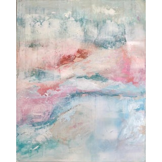 Contemporary Abstract Expressionist Pastel Acrylic Painting For Sale