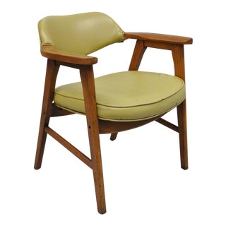 Vintage Gunlocke Mid Century Modern Danish Style Office Chair For Sale