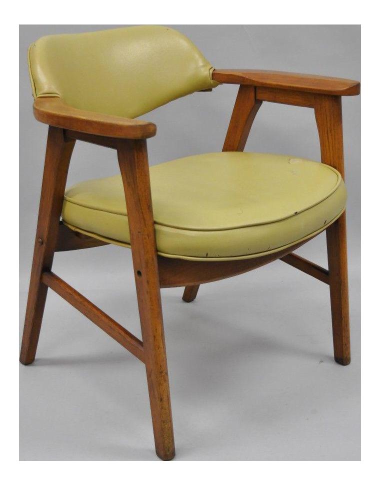 Vintage Gunlocke Mid Century Modern Danish Style Office Chair For Sale