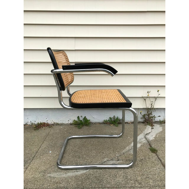 Mid 20th Century Vintage Mid-Century Modern Marcel Breuer Cesca Style Chairs - Set of 6 For Sale - Image 5 of 13