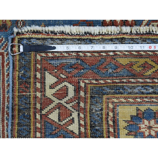 Textile Antique Caucasian Kazak Even Wear Hand Knotted Rug- 3′10″ × 6′3″ For Sale - Image 7 of 8
