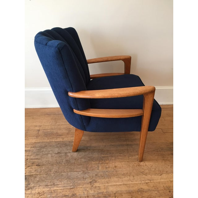 Heywood Wakefield Channel Back Armchair - Reupholstered - Image 4 of 9