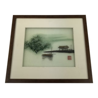 Chinese Needlepoint on Silk Art For Sale
