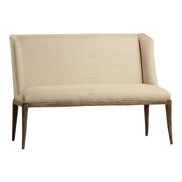 Linen Upholstered Bench For Sale