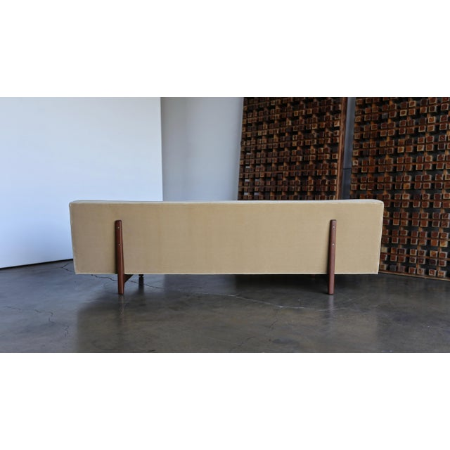 Vintage Mid Century Edward Wormley for Dunbar Bracket Back Sofa For Sale In Los Angeles - Image 6 of 10