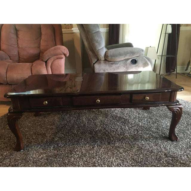 Vintage Victorian Cherry Coffee Table