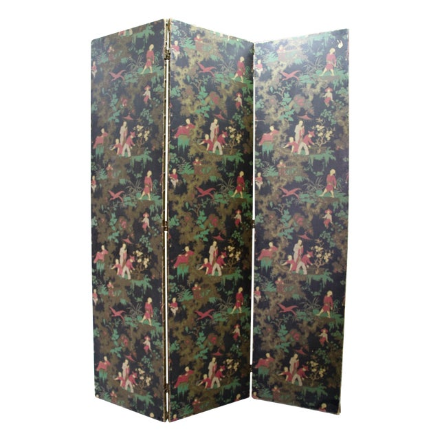 Antique Chinoiserie Folding Floor Screen - Image 1 of 8