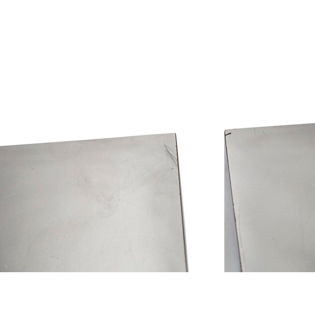PAIR OF CHROME CUBES ATTRIBUTED TO PAUL EVANS For Sale In Chicago - Image 6 of 7