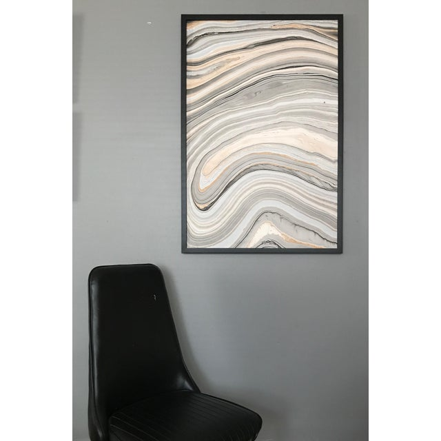 Framed Hydro-Dipped Abstract For Sale In Chicago - Image 6 of 7