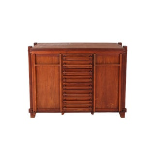 French Elm Cabinet in the Style of Pierre Chapo For Sale