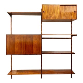 Mid Century Danish Rosewood Wall Unit by Kai Kristiansen for Fm Møbler For Sale