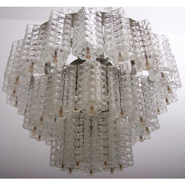 One of six Huge and Rare Glass Chandeliers by Austrolux For Sale - Image 6 of 8