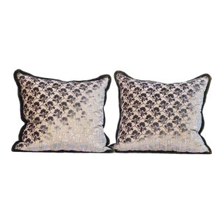 Pair of Luigi Bevilaqua Silk Velvet Pillows For Sale