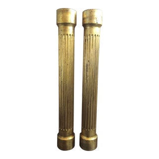 Gold Fluted Columns - a Pair For Sale