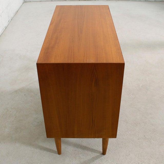 Petite Danish Modern Teak Bar Cabinet - Image 5 of 10