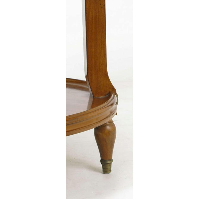 Gold French Walnut & Carrera Marble Round Four-Tier Serving Table For Sale - Image 8 of 9
