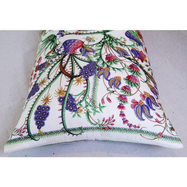 Designer Italian Gucci Floral Fanni Silk Pillow - Image 8 of 11