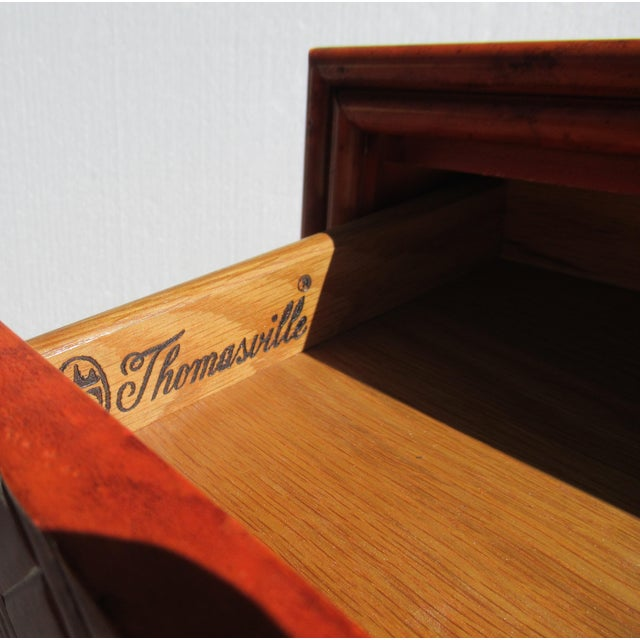 C.1970s Vintage Chinoiserie Orange Lacquered Nightstand, Side/End Reading Table by Thomasville For Sale - Image 12 of 13
