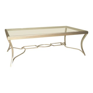 Art Modern Style 'Modern' Silver Patina Bronze Coffee Table For Sale