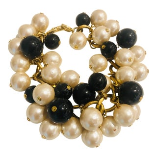 1980s Christian Dior Faux Pearl Bracelet For Sale