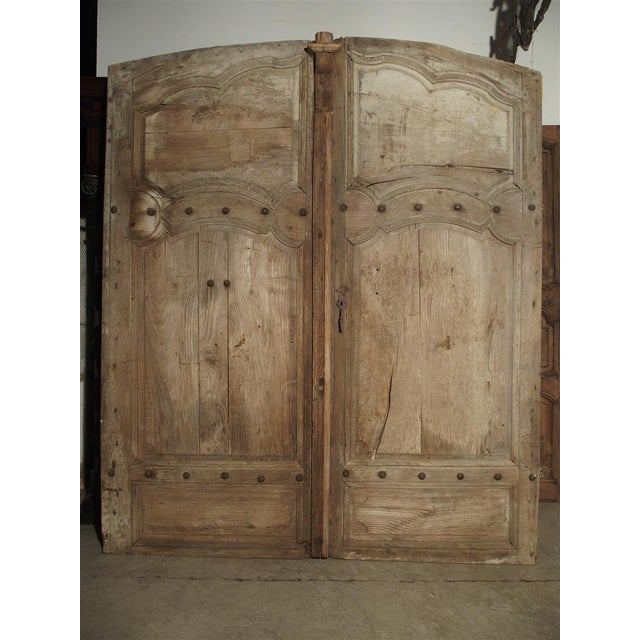 1700s Antique French Oak Doors From Burgundy- A Pair For Sale - Image 13 of 13