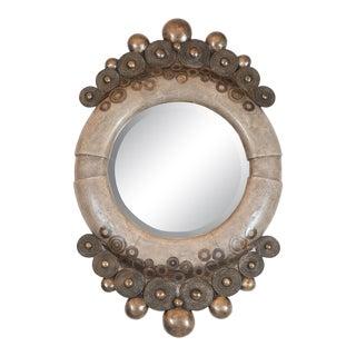 Unusual Shagreen Mirror by R&y Augousti For Sale