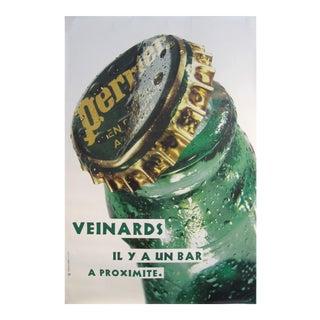 1990s French Perrier Advertisement, Veinards Il Y a Un Bar à Proximité For Sale